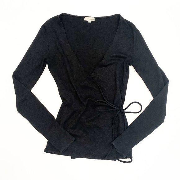 Aritzia Wilfred Free wrap long sleeve top XS
